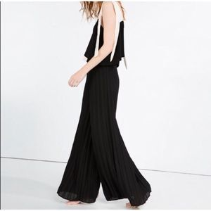 Zara Finely Pleated Palazzo Wide Trousers